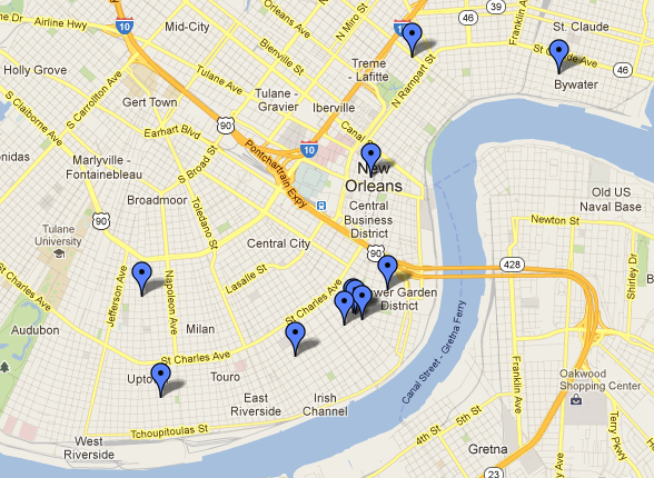 Custom Google Map of New Orleans Real Estate
