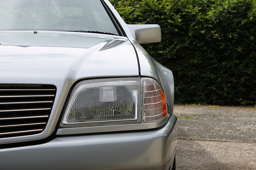 Mercedes SL R129 headlamp, via trystanox on Flickr