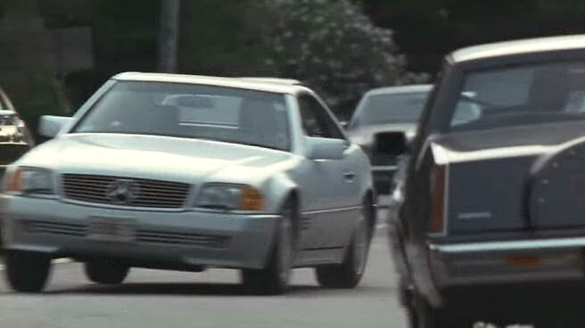 Mercedes 500SL in Addams Family Values, driven by Joan Cusack