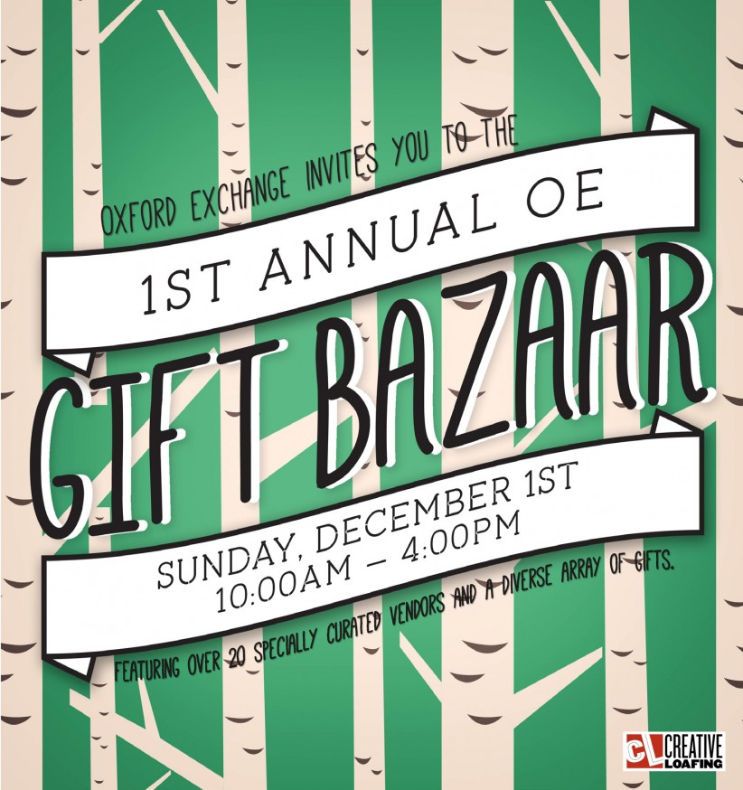 OE Gift Bazaar, Sunday December 1st