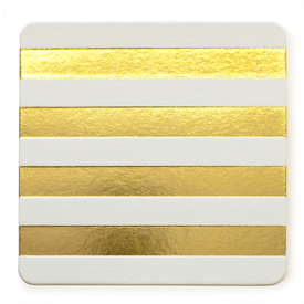 Sugar Paper Gold stripe Cabana coasters