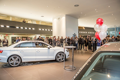 Audi A3 as part of the grand opening of Audi of Downtown Vancouver, BC