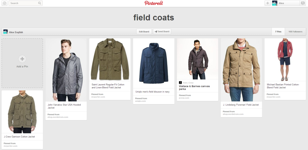 field coats board on Pinterest
