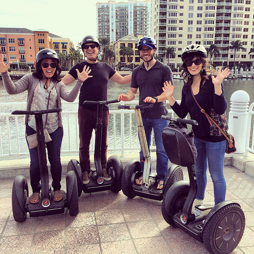Segway-ing around Channelside over Christmas break