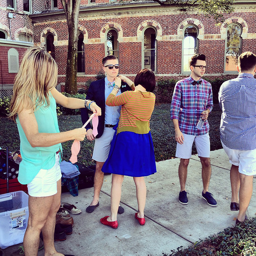 Ella Bing bow ties & accessories Spring 2014 photoshoot at the University of Tampa's Plant Hall