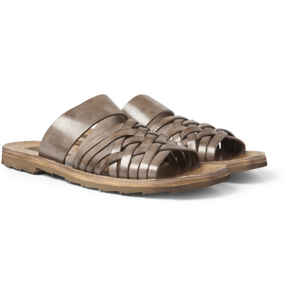 Dolce & Gabbana woven burnished slides at MR PORTER