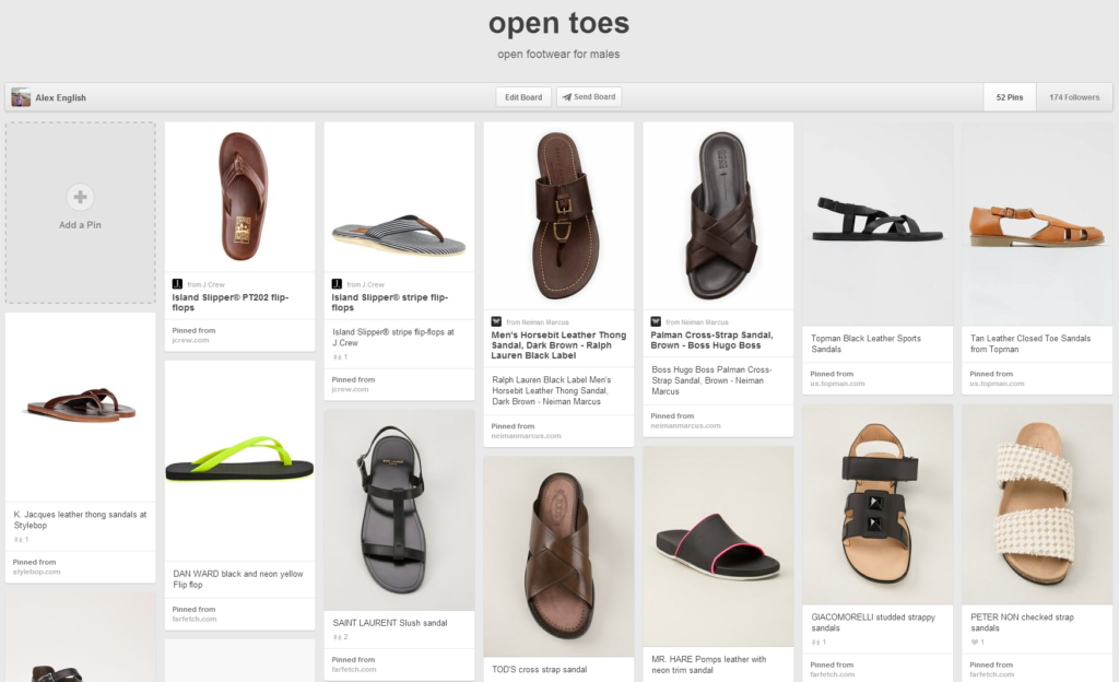 open toes board on Pinterest