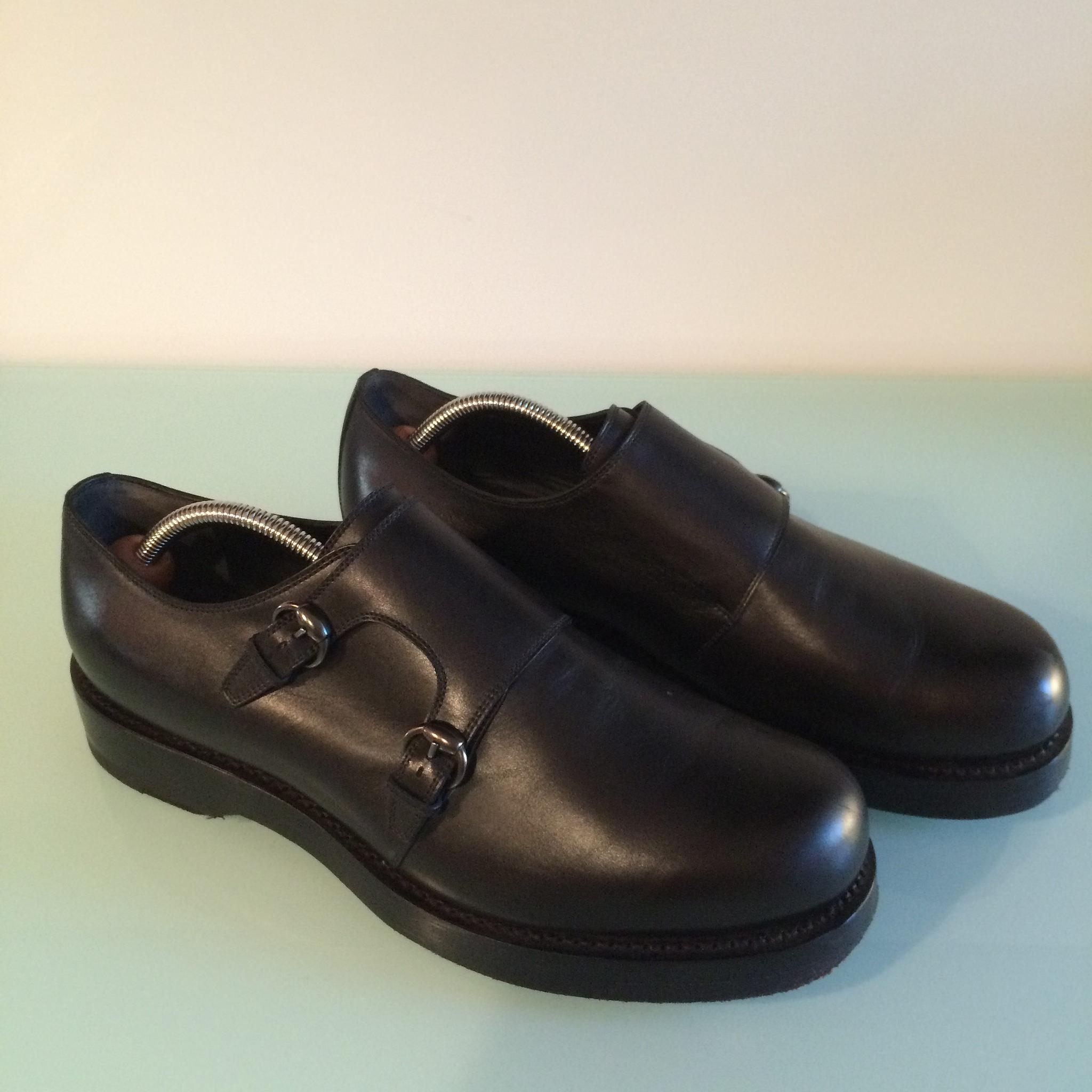 93eea88d779 Gucci goodyear-welt black monkstrap shoes
